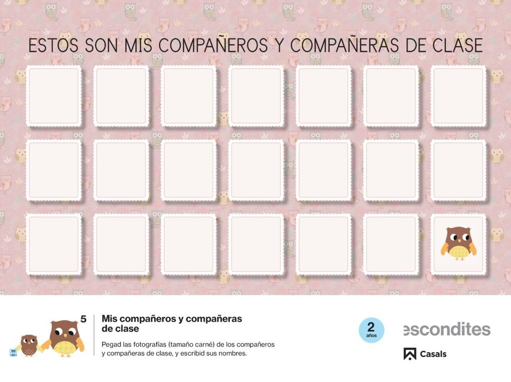 Ficha propuesta educativa Escondites, Editorial Casals
